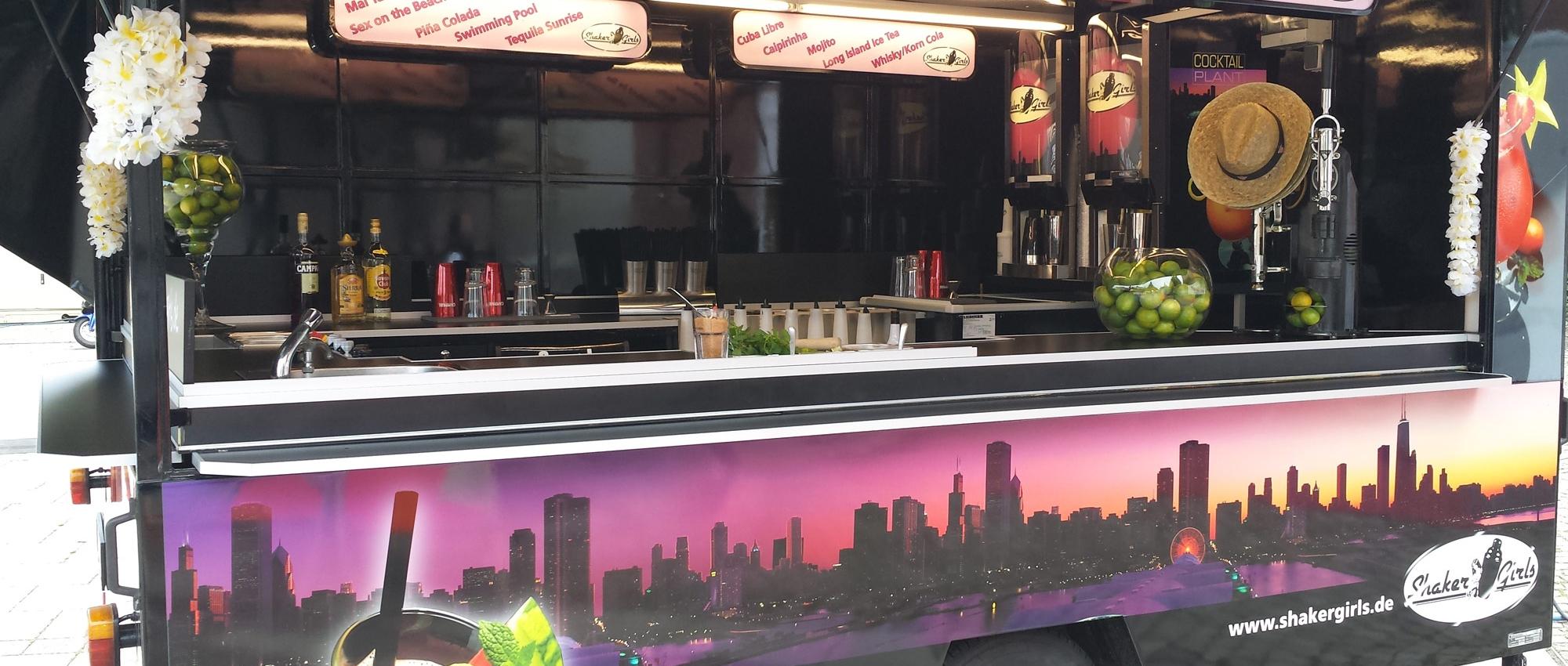 Mobiler Cocktailwagen