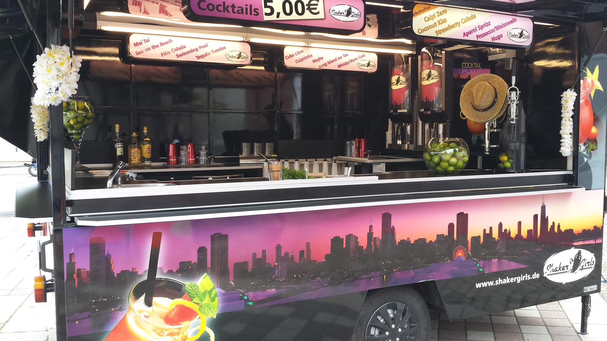 mobile cocktailbar cocktailwagen outdoor bar f r. Black Bedroom Furniture Sets. Home Design Ideas